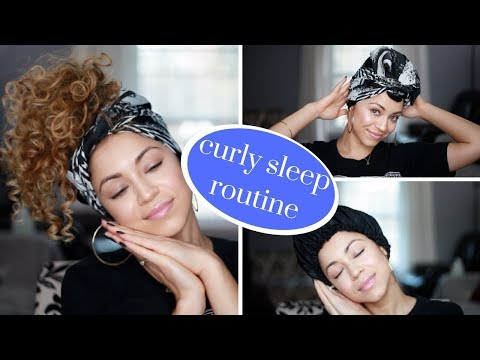 My Curly Hair Sleep Routine | Preserve Curls Overnight!