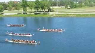 preview picture of video 'Welland Dragon Boat Festival 2014 ★ Race 23 ★ RBC Royal Dragons, Ryerson DBC Rams 1, SNCC'