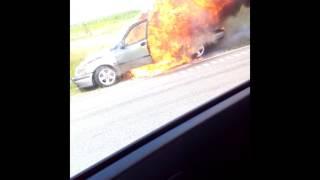 Wybuch samochodu na obwodnicy Stawisk