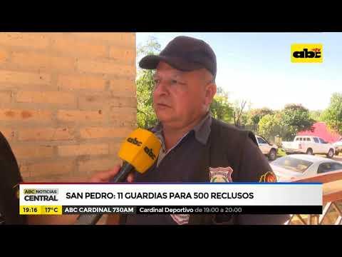 San Pedro: 11 guardias para 500 reclusos