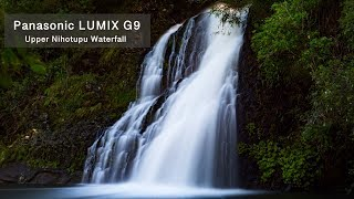 Panasonic Lumix G9 and the Upper Nihotupu Waterfall