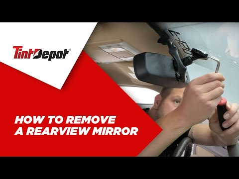 How to Remove a Rearview Mirror – (Ford F150)