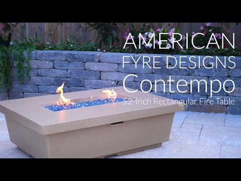 American Fyre Designs Contempo 52-Inch Rectangular Fire Table - Cafe Blanco