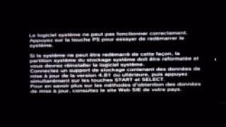 PS3 4.83  mise à jour formatée et réinstaller le logiciel système