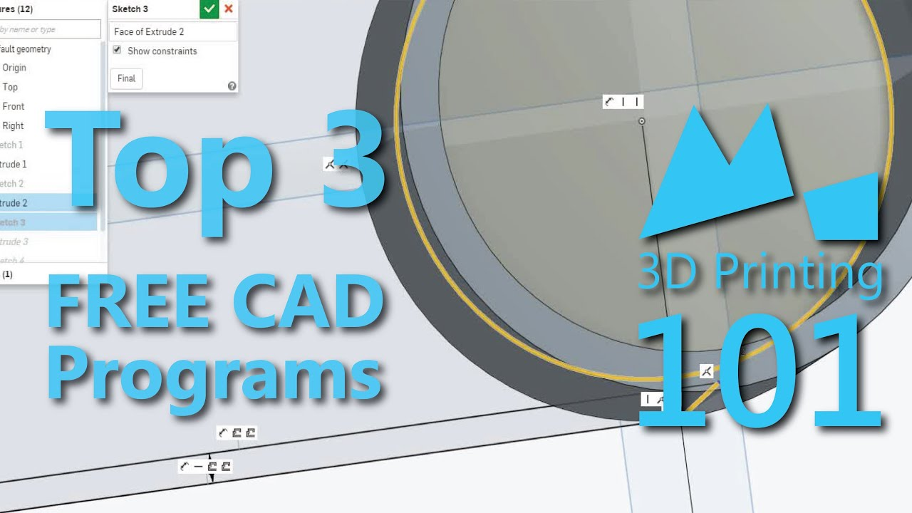 Top 3 Free CAD Programs for 3D Printing - 2015