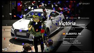 🚩Gran Turismo SPORT Online🚩 Road to Trophy, Record de victorias,14 Victorias, C.A. Audi TTS Coupe 14