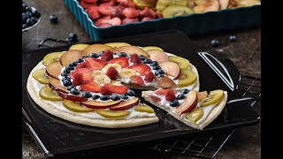 Gluten Free Fruit Pizza in 1 Minute