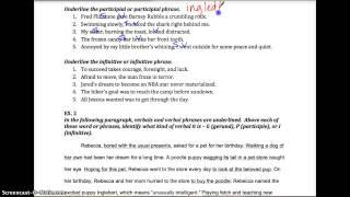 Unit 4 - Verbals - Practice Ex. 1