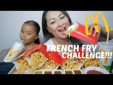 French Fry Challenge | Mukbang | N.E Let's Eat