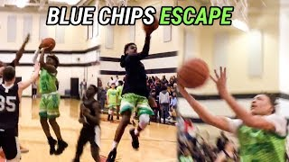 cdb59b5970c Bronny James   Rodney Gallagher Are Playmakers! Blue Chips Win Close Game  At Dru Joyce