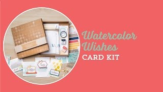 Watercolot Whishes Card Kit