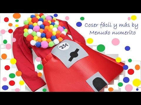 "Como hacer un disfraz de ""gumball machine"" o máquina de bolas de chicle"