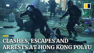 Clashes, escapes and arrests as stand-off continues at Hong Kong Polytechnic University