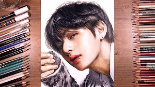 Drawing BTS: V (Taehyung) 뷔 | drawholic
