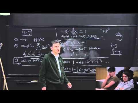Mathematical Physics 01 - Carl Bender