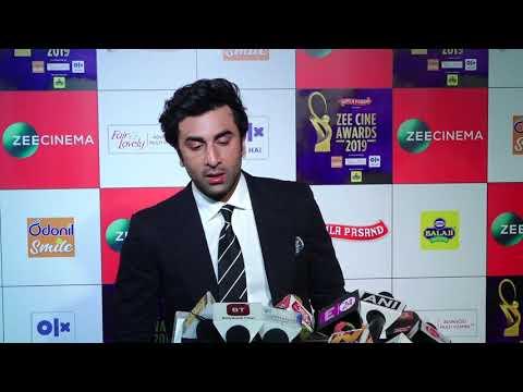 "Ranbir Kapoor: ""Jis tarah se Ye Saal Shuru hua hai, Its just AMAZING"" | Zee Cine Awards 2019"