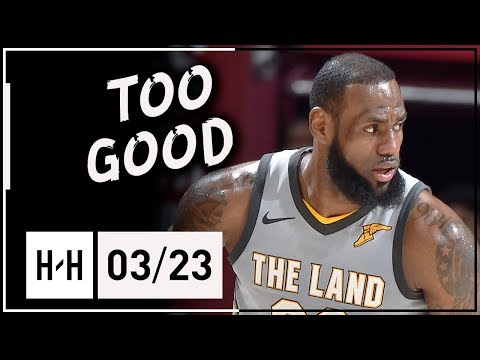 LeBron James Full Highlights Cavaliers vs Suns (2018.03.23) - 27 Pts, 9 Ast in 3 Quarters