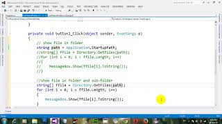 Get files and folders from a directory in C# NET 2012