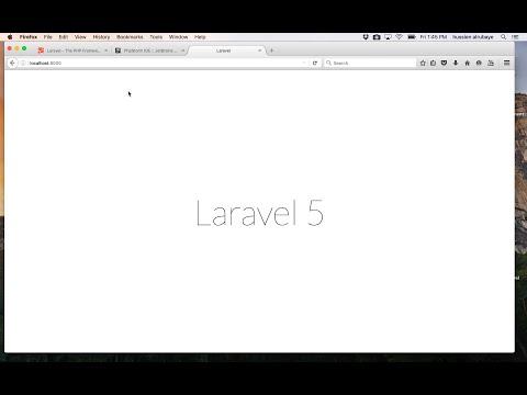 4- Laravel First app on Mac || بناء اول تطبيق ويب بواجهة تسجيل دخول