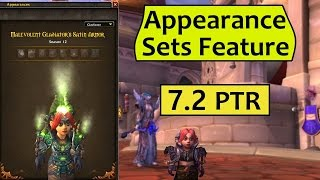 Transmog Appearance Sets Feature from Patch 7.2 PTR