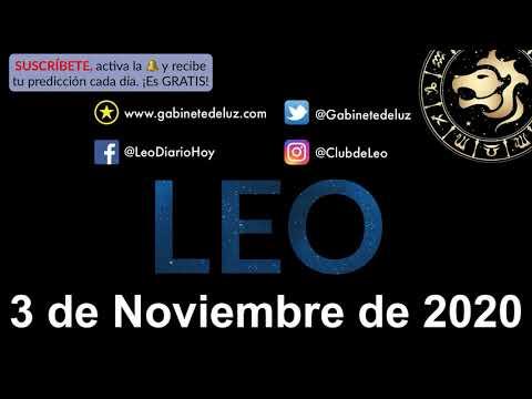 Horóscopo Diario - Leo - 3 de Noviembre de 2020