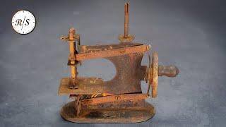 Старинная миниатюрная швейная машина – Реставрация