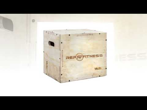 Rep 3 in 1 Wood Plyometric Box for Jump Training and Conditioning