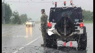 Soldier Stands At Attention In Pouring Rain. When She Sees Why She Breaks Down In Tears