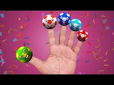 Finger Family Football | Nursery rhymes for children and kids song