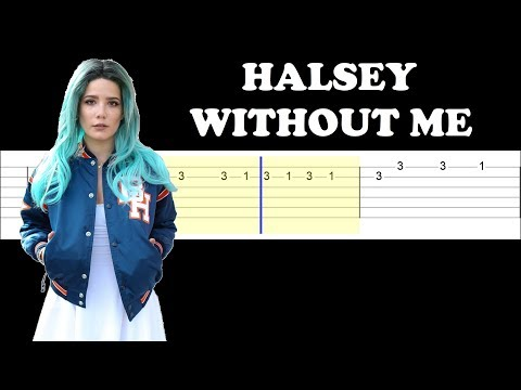 Halsey - Without Me (Easy Guitar Tabs Tutorial)