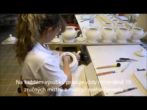 Video Leander Mary-Anne, šálek čajový s podšálkem, ovoce, slon. kost 2