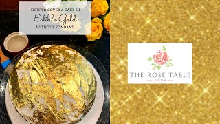 How To Apply Edible Gold To Frosted Cake