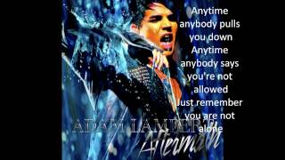 Adam Lambert - Aftermath With Lyrics