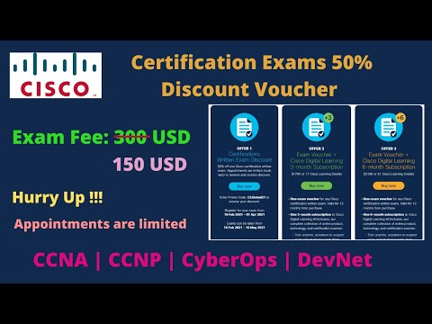 How to Book your Cisco Certification Exam | 50% Discount on all ...