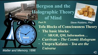 Bergson's Holographic Theory - 51 - Tofu Blocks of Consciousness Theory