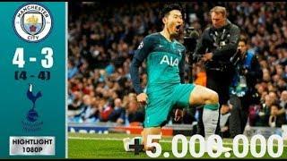 Manchester City Vs Tottenham 4 3 Highlights & Goals Resumen & Goles 2019 HD