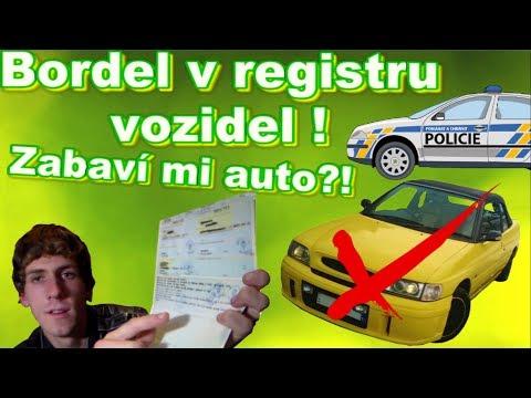 ⚠ Bordel v registru vozidel! ⚠ Chtějí mi zabavit auto?!