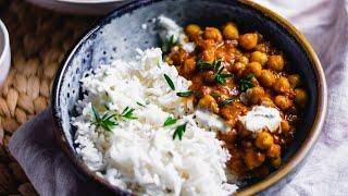 Ich koche ein Kichererbsen Curry in 15 Minuten
