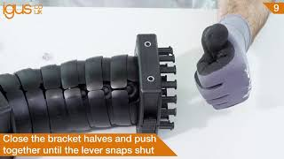 How to use triflex® brackets on the triflex® robot energy chain