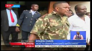KTN News: Youths storm Kisumu County chambers as MCA's debate Governor Ranguma's impeachment 5/10/16