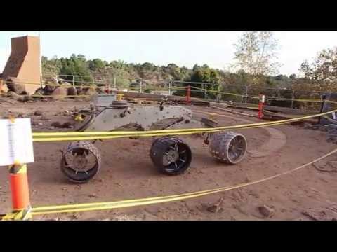 Mars Yard Curiosity wheel testing
