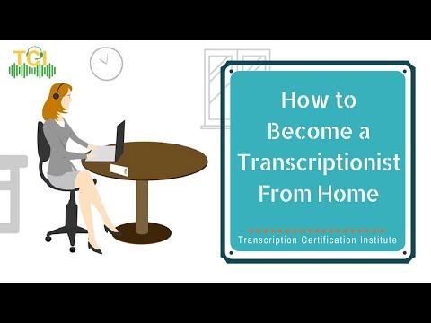 How to Become a Transcriptionist From Home Easily - YouTube