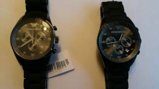 Fälschung Emporio Armani Uhr AR 5889 Kopie versus Original