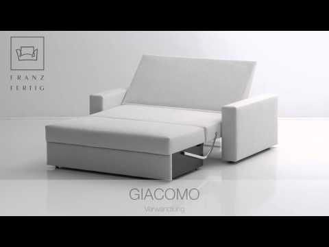 Franz Fertig Schlafsofa Giacomo Verwandlung vom Sofa zum Bett