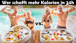 Wer schafft mehr Kalorien in 24 Stunden? | Couple Cheat Day Battle