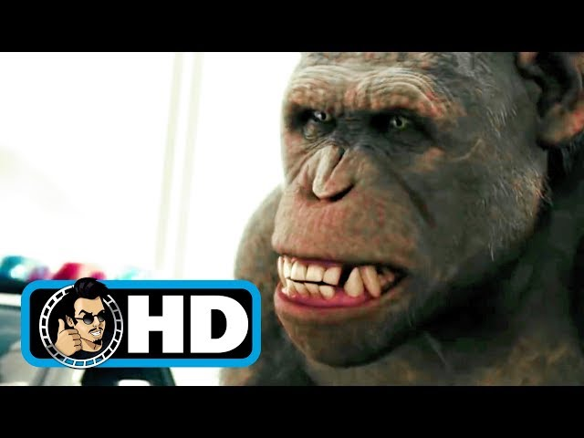 Rise Of The Planet Of The Apes 2011 Movie Clip Bridge Battle Full Hd Andy Serkis