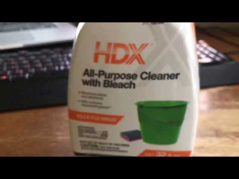 Hdx all-purpose Cleaner with Bleach from Home Depot review