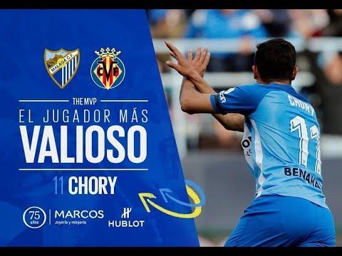 La afición elige a 'Chory' Castro MVP del Málaga-Villarreal
