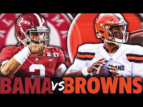 Can the Alabama Crimson Tide BEAT the Cleveland Browns in the NFL? Madden 18 Challenge