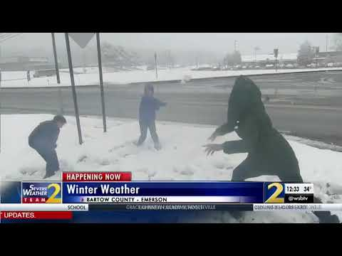 Bartow County students react to snowfall